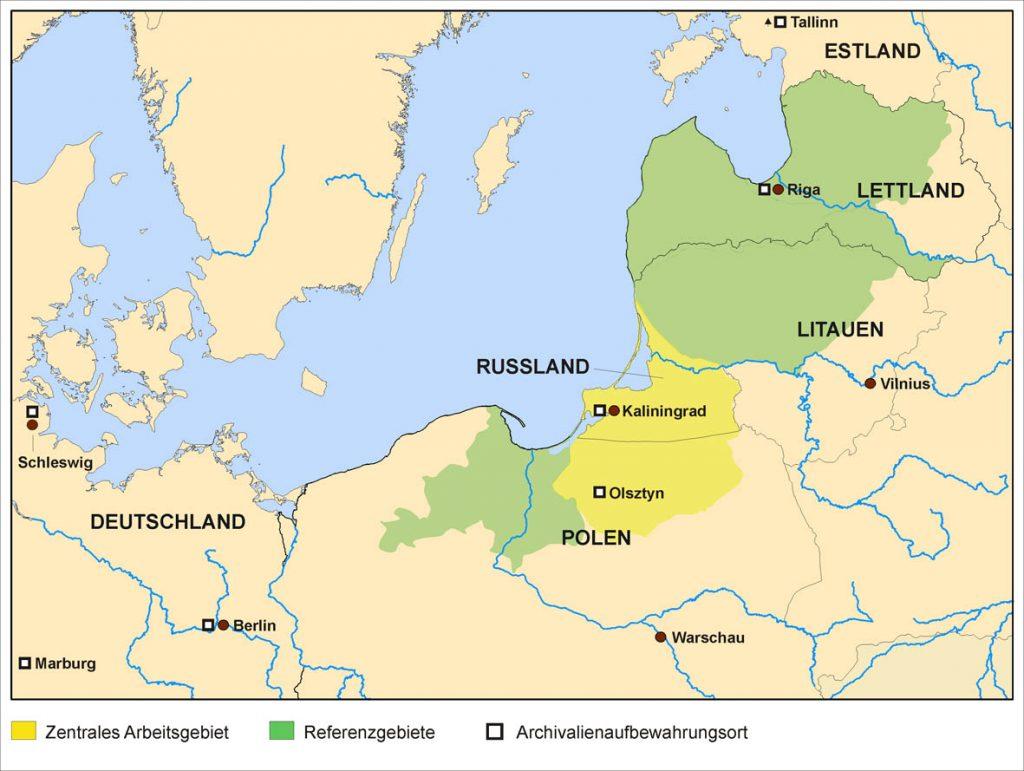 Karte des Unterssuchungsraums