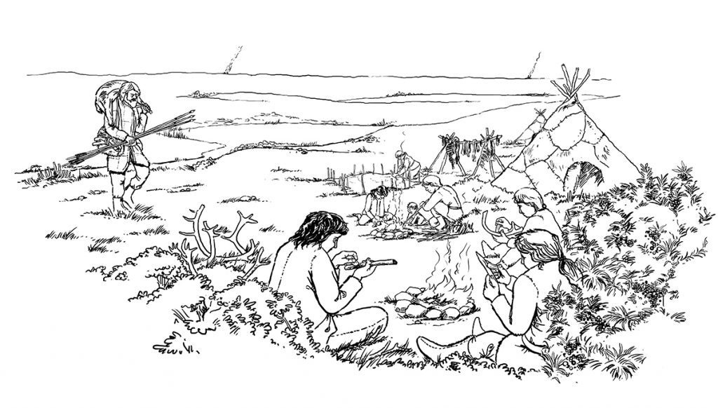 Figure 1: A typical or a-typical learning situation during the Upper Palaeolithic?