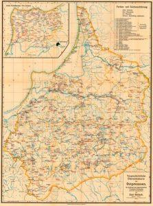 Vorgeschichtliche Übersichtskarte von Ostpreußen (Hollack 1908).