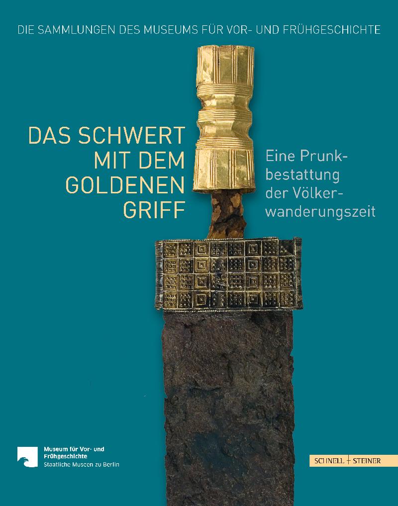 Buchcover mit dem namengebenden breiten Langschwert mit goldener Griffhülse.